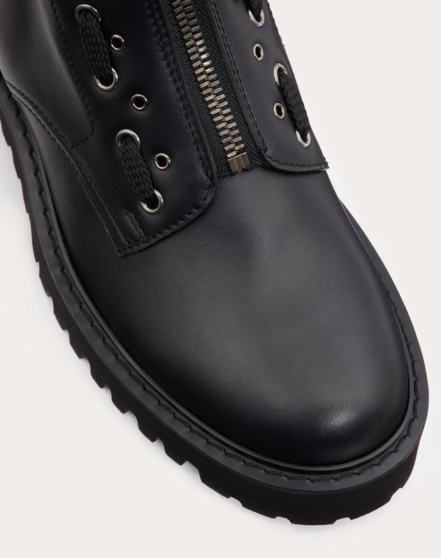 Calfskin Combat Boot with Loop