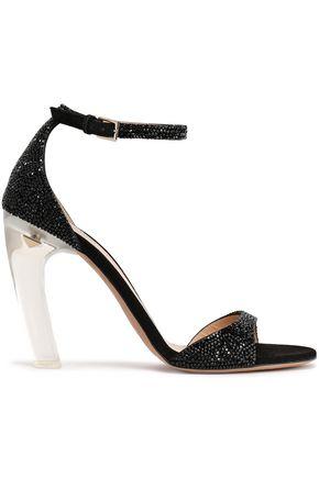 VALENTINO GARAVANI Crystal-embellished suede sandals