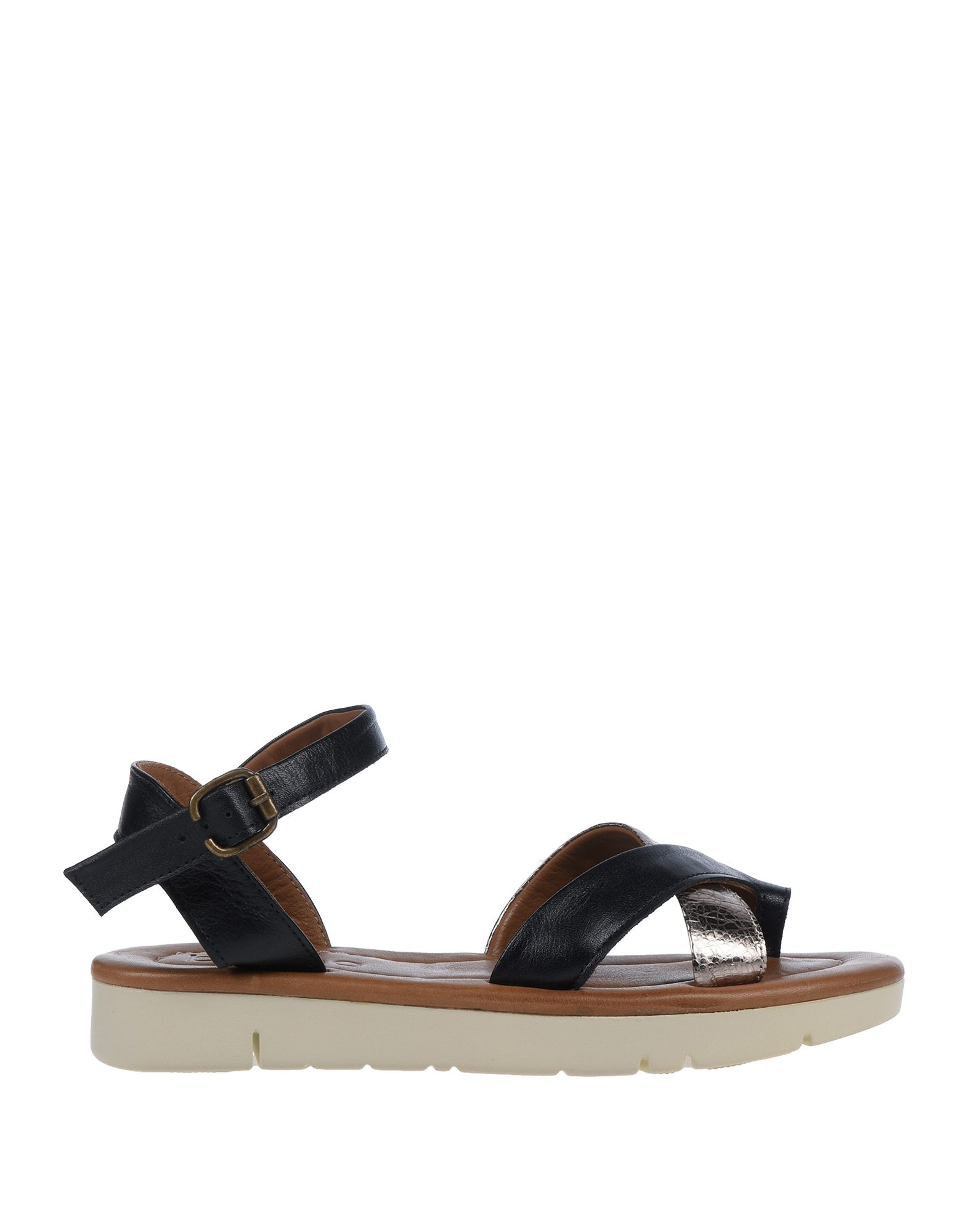 BUENO Toe strap sandals. leather, laminated effect, no appliqués, solid color, wrapping straps closure, round toeline, flatform, covered wedge, rubber sole, leather lining, contains non-textile parts of animal origin. Soft Leather