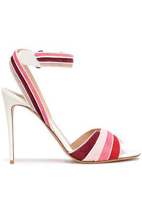 VALENTINO GARAVANI Color-block suede sandals