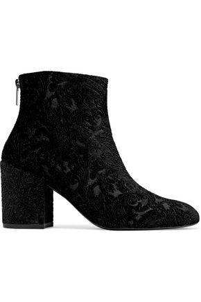 STUART WEITZMAN Embossed velvet ankle boots