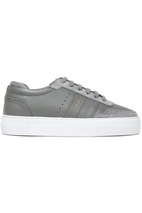 AXEL ARIGATO Suede-trimmed leather sneakers