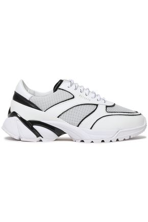 AXEL ARIGATO Leather and mesh sneakers