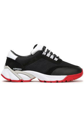 AXEL ARIGATO Color-block leather, suede and mesh sneakers