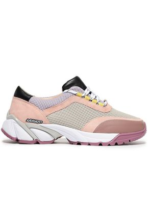 AXEL ARIGATO Leather-paneled color-block mesh sneakers