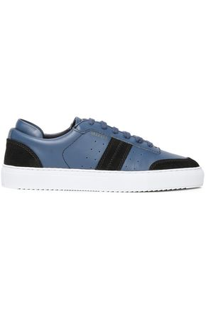 AXEL ARIGATO Color-block leather and suede sneakers