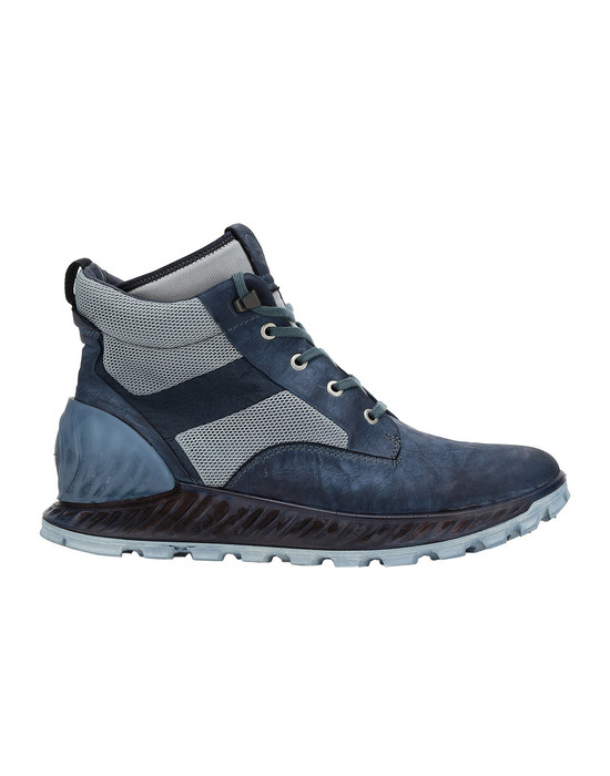 STONE ISLAND S0796 GARMENT DYED LEATHER EXOSTRIKE BOOT WITH DYNEEMA® ZAPATO Hombre Azul marino