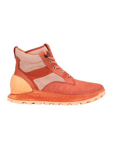 STONE ISLAND S0796 GARMENT DYED LEATHER EXOSTRIKE BOOT WITH DYNEEMA® SHOE Man Lobster Red EUR 232