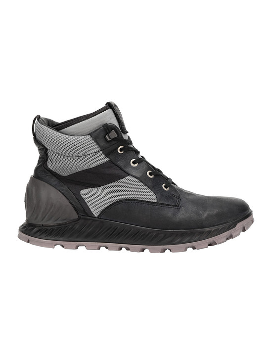 STONE ISLAND S0796 GARMENT DYED LEATHER EXOSTRIKE BOOT WITH DYNEEMA® ZAPATO Hombre Negro