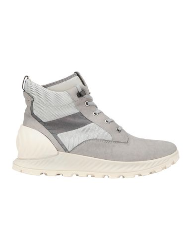 STONE ISLAND S0796 GARMENT DYED LEATHER EXOSTRIKE BOOT WITH DYNEEMA® SHOE Man Dust Gray USD 410