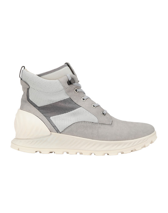 STONE ISLAND S0796 GARMENT DYED LEATHER EXOSTRIKE BOOT WITH DYNEEMA® SHOE Man Dust Grey