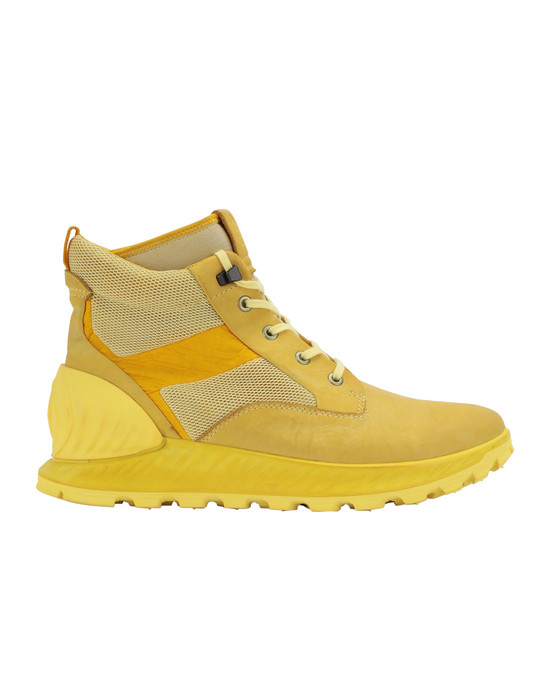 STONE ISLAND S0796 GARMENT DYED LEATHER EXOSTRIKE BOOT WITH DYNEEMA® SHOE Man Lemon