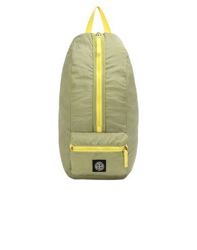STONE ISLAND 90935 NYLON METAL WATRO RIPSTOP_PACKABLE Backpack Man Lemon EUR 150