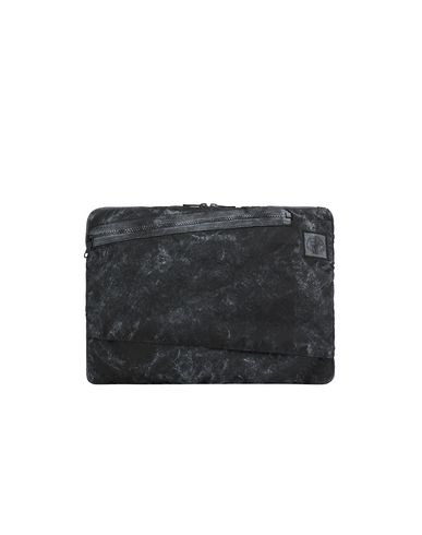 STONE ISLAND 91570 COMPACTED NYLON GARMENT DYED WITH DUST COLOUR FINISH Laptop case Man Black USD 153