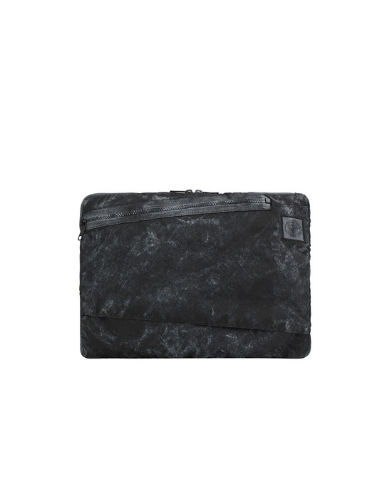 Laptop case Man 91570 COMPACTED NYLON GARMENT DYED WITH DUST COLOUR FINISH Front STONE ISLAND