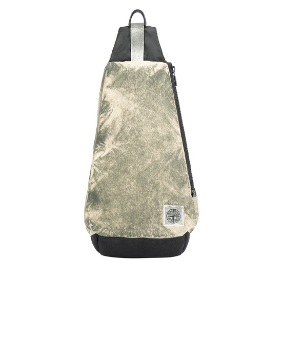 Backpack Man 91470 COMPACTED NYLON GARMENT DYED WITH DUST COLOUR FINISH Front STONE ISLAND