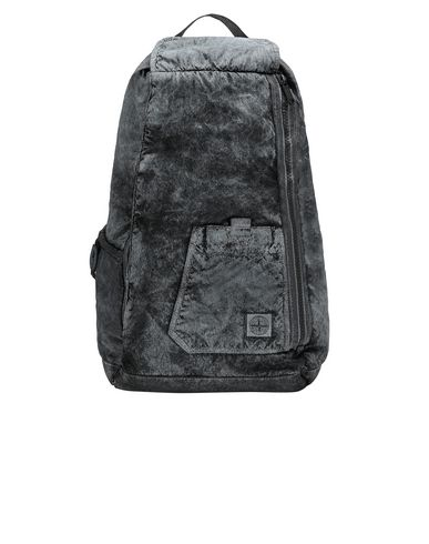 STONE ISLAND 91270 COMPACTED NYLON GARMENT DYED WITH DUST COLOUR FINISH Backpack Man Black USD 487