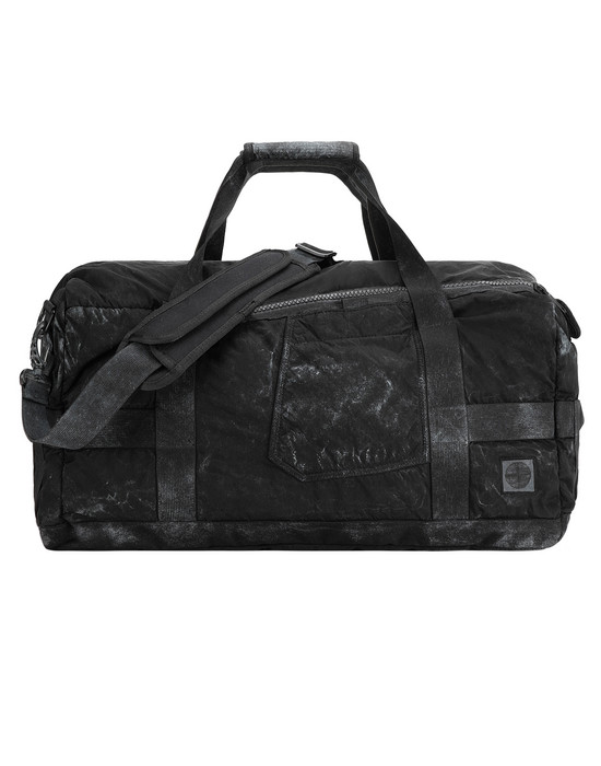 STONE ISLAND 91370 COMPACTED NYLON GARMENT DYED WITH DUST COLOUR FINISH Travel & duffel bag Man Black