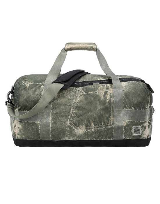 Travel & duffel bag 91370 COMPACTED NYLON GARMENT DYED WITH DUST COLOUR FINISH STONE ISLAND - 0