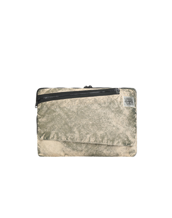 Laptoptasche Herr 91570 COMPACTED NYLON GARMENT DYED WITH DUST COLOUR FINISH Front STONE ISLAND