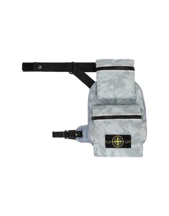 STONE ISLAND 961E1 BIG LOOM CAMO-TC BUM BAG Man Baby Blue