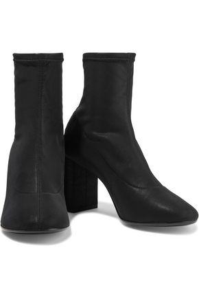 Mm6 Maison Margiela Boots MM6 MAISON MARGIELA WOMAN FAUX STRETCH-LEATHER SOCK BOOTS BLACK