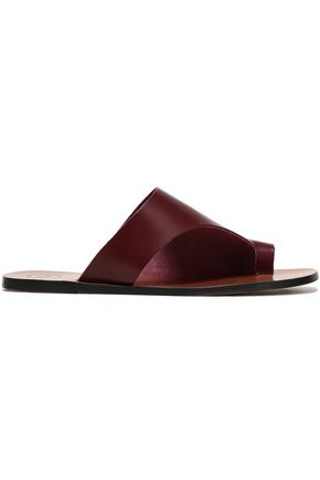 ATP ATELIER Rosa leather slides