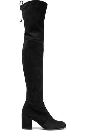 STUART WEITZMAN حذاء بوت لأعلى الركبة من الجلد الناعم المرن