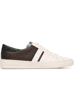 MICHAEL MICHAEL KORS Keaton printed color-block faux leather sneakers