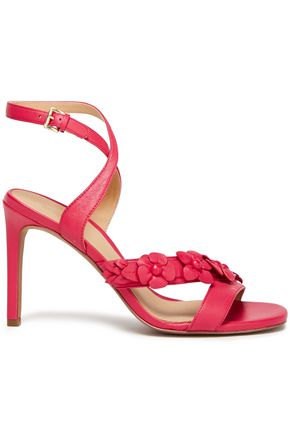 MICHAEL MICHAEL KORS Tricia cutout floral-appliquéd leather sandals