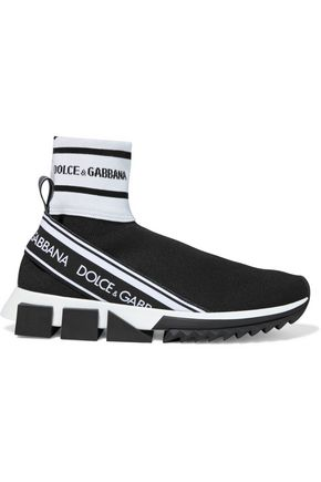 DOLCE & GABBANA Sorrento stretch-knit high-top sneakers
