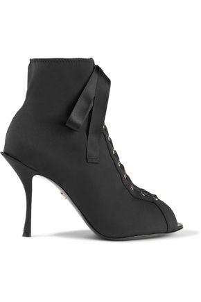 DOLCE & GABBANA حذاء بوت على شكل جوارب من نسيج محبوك مرن مع أربطة