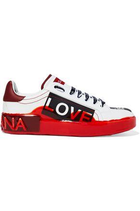 DOLCE & GABBANA Portofino Melt coated printed leather sneakers