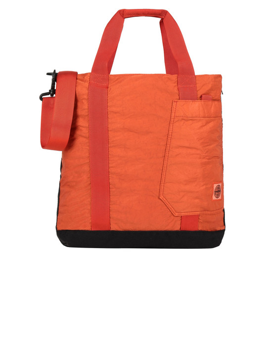 STONE ISLAND 91170 Medium fabric bag Man Orange