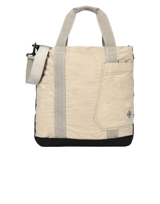 STONE ISLAND 91170 Medium fabric bag Man Sand