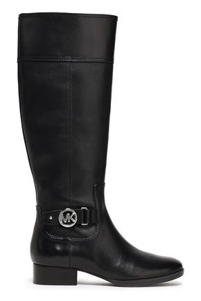 MICHAEL MICHAEL KORS Harland logo-embellished leather knee boots