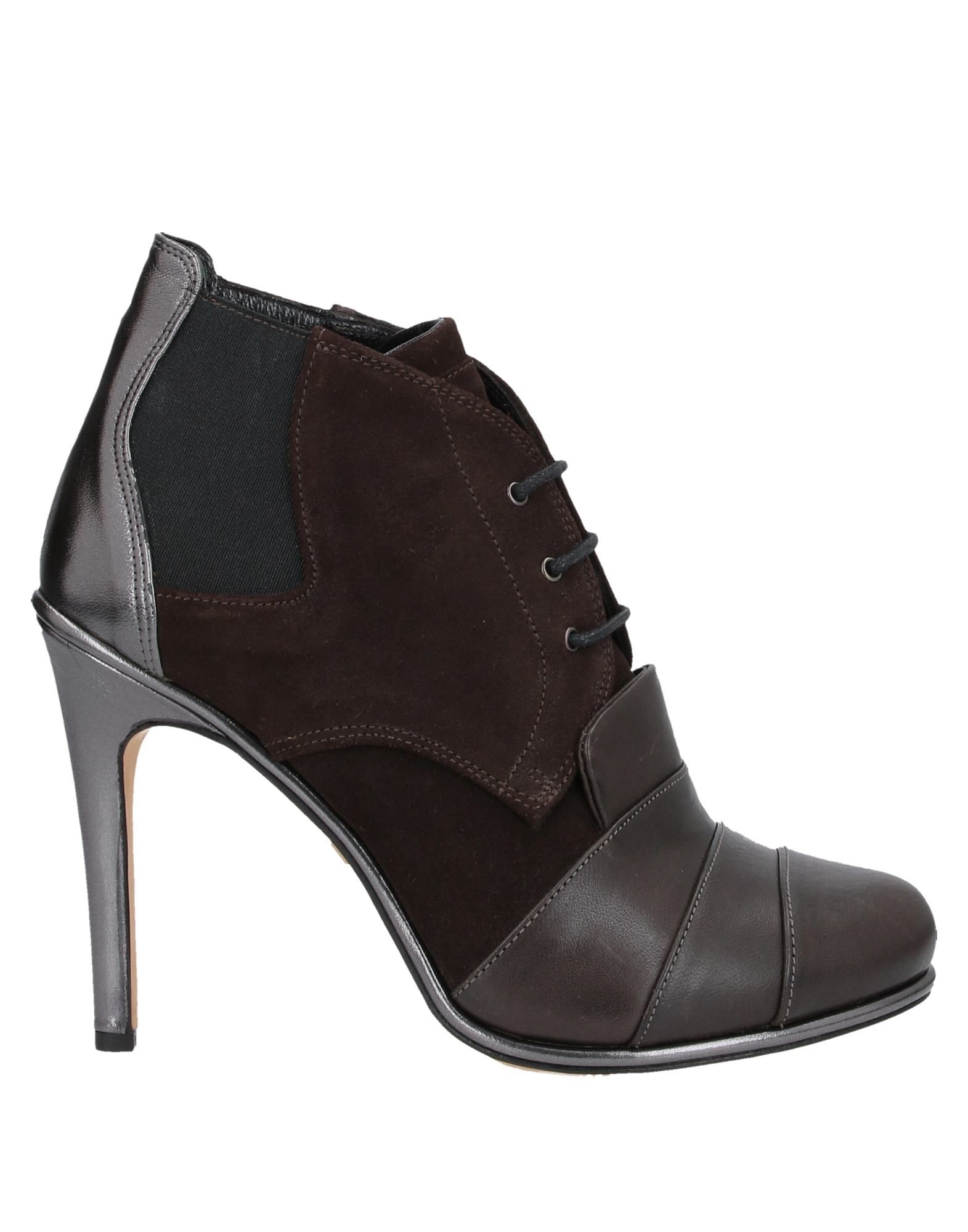 NEIL BARRETT Ankle boots. suede effect, no appliqués, solid color, laces, round toeline, stiletto heel, leather lining, leather sole, contains non-textile parts of animal origin. Soft Leather
