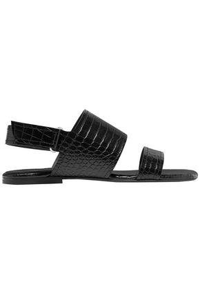 DRIES VAN NOTEN Croc-effect leather sandals