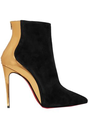 CHRISTIAN LOUBOUTIN Delicotte 100 smooth and mirrored-leather ankle boots