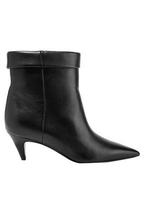 SAINT LAURENT حذاء بوت إلى الكاحل من الجلد