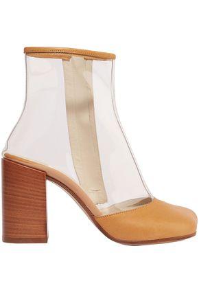 MM6 MAISON MARGIELA Leather-trimmed PVC ankle boots