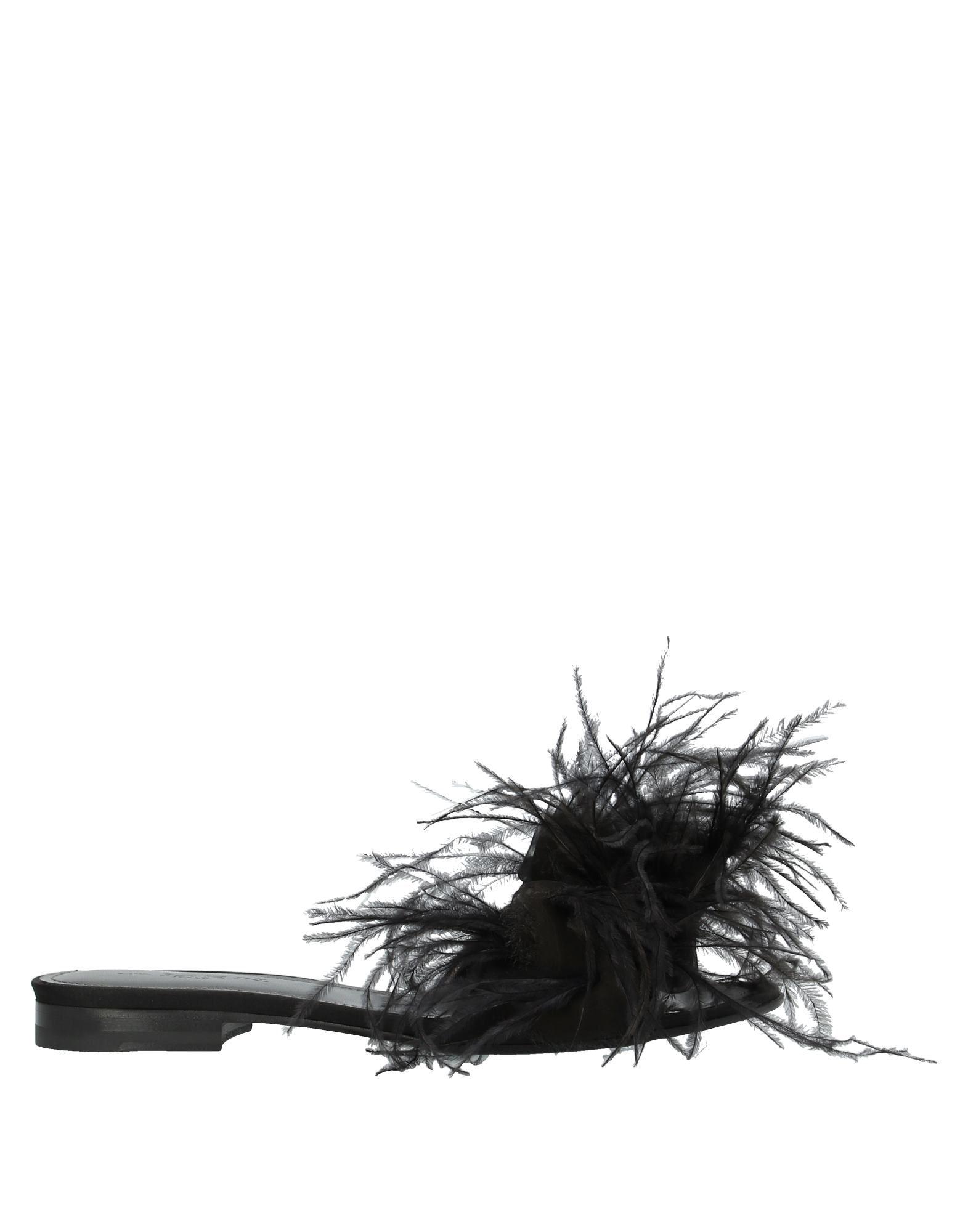 《セール開催中》.AMEN. レディース サンダル ブラック 37 紡績繊維