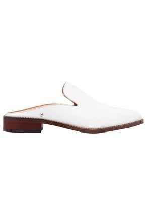 SAM EDELMAN Laddie crystal-embellished leather slippers