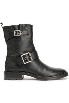 RAG & BONE Cannon buckle-embellished leather ankle boots