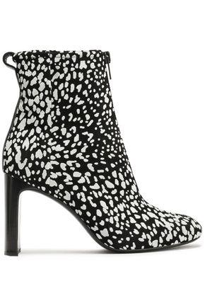 RAG & BONE Ellis zip-detailed leopard-print flocked suede ankle boots
