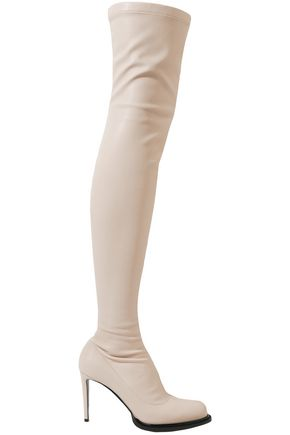 STELLA McCARTNEY Patent-trimmed faux stretch-leather over-the-knee boots