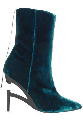 BEN TAVERNITI™ UNRAVEL PROJECT Velvet ankle boots