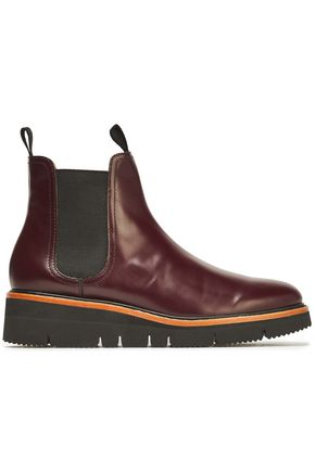RAG & BONE Taryn glossed-leather ankle boots