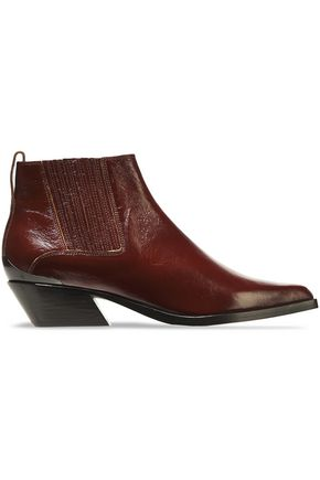 RAG & BONE Westin glossed-leather ankle boots