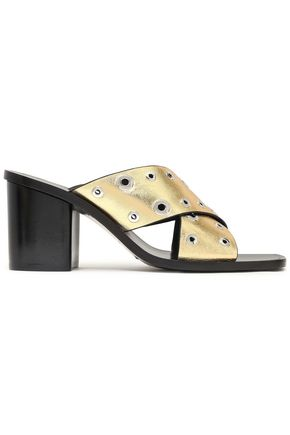 RAG & BONE Paige studded metallic leather sandals
